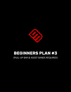 BEGINNERS PLAN #3 (PULL-UP BAR & ASSIST BANDS REQUIRED)